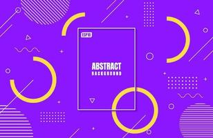 Abstract modern purple colors gradient with Geometric Shape for business background design vector