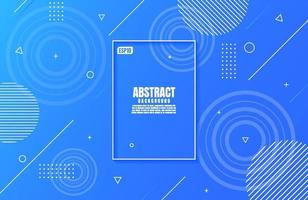 Abstract modern blue colors gradient with Geometric Shape for business background design vector