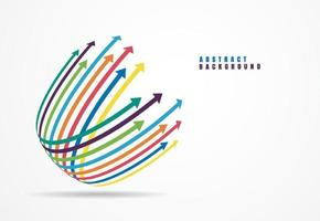 Financial growth arrows with colorful. Vector illustration
