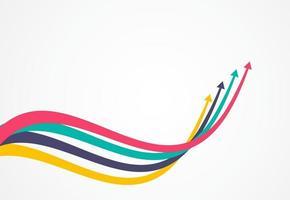 flechas de crecimiento financiero con colorido. ilustración vectorial