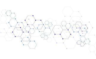 Fondo de tecnología abstracta de estructura molecular. diseño médico. ilustración vectorial