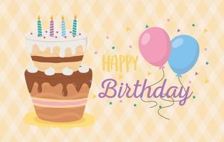 happy birthday celebration card vector