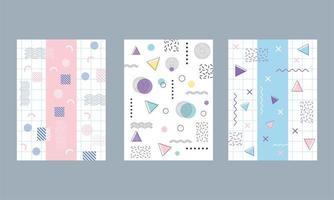 colorido conjunto de fondo geométrico y abstracto vector