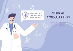 plantilla de banner de atención médica en línea