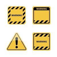 señal de advertencia, ilustración vectorial