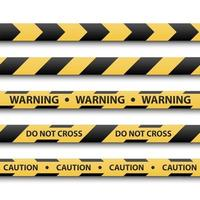 Warning sign, yellow and black stripe tapes, vector illustration