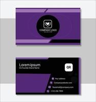 plantilla de tarjeta de visita profesional púrpura