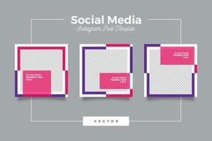 publicación de redes sociales de marketing digital vector