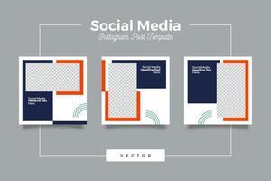 paquete de banner de publicación de redes sociales modernas y ligeras vector