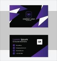 plantilla de tarjeta de visita profesional limpia