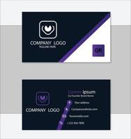 plantilla de tarjeta de visita profesional púrpura vector