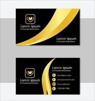 plantilla de tarjeta de visita profesional dorada