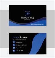 plantilla de tarjeta de visita profesional azul