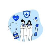 Medicine and healthcare icon concept vector