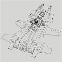 lineart de la nave espacial