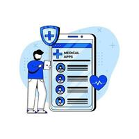 Online Doctor icon concept