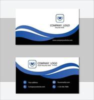 plantilla de tarjeta de visita profesional azul vector