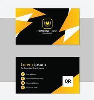 elegante plantilla de tarjeta de visita moderna amarilla vector