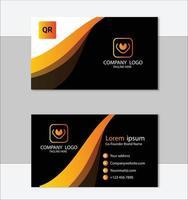 elegante plantilla de tarjeta de visita amarilla y negra vector