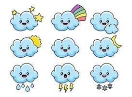 Cute Cloud Vector