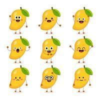 linda fruta de mango vector