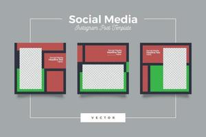 Earth color social media post template vector