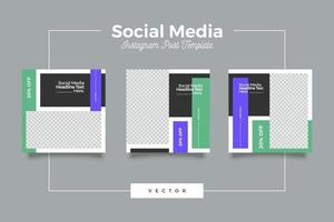 plantilla de publicación de redes sociales de marketing vector