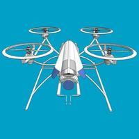 Ilustración de un dron vector