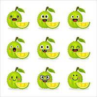 Cute Durian Fruit vector