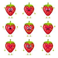 Cute Strawberry Fruit vector