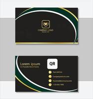 plantilla de tarjeta de visita moderna de estilo limpio vector