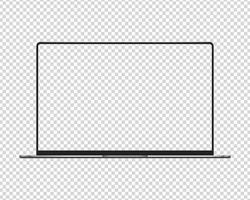 computadora portátil moderna. vector de maqueta de computadora portátil. vector de maqueta aislado. diseño de plantilla. ilustración vectorial realista.