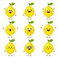 Cute Lemon Fruit vector