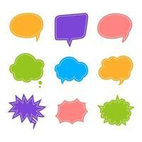 Speech Bubble Set vector