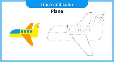Trace and Color Ice Plane vector