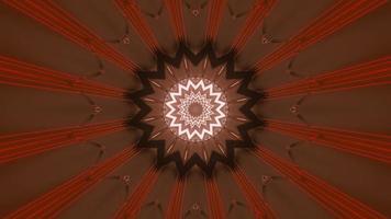 3D túnel marrom com linhas vermelhas video