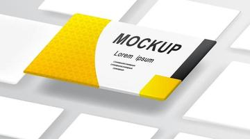 Realistic Business Cards On White Background Template. Vector illustration