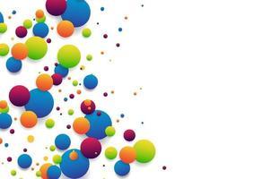 Conexión de bolas de rayas de colores abstractos aislado sobre fondo blanco para banner, portada, folleto. ilustración vectorial vector