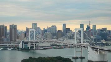 Timelapse Rainbow Bridge with Tokyo Tower,Tokyo Japan video