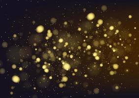 Fondo de oro abstracto bokeh. ilustración vectorial vector