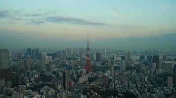 Timelapse tokyo tower en la ciudad de tokio, japón video
