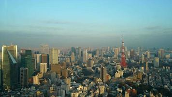 Timelapse Tokyo Tower with blue sky in Tokyo City,Japan