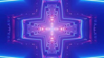 3D mehrfarbiger kreuzförmiger Tunnel video