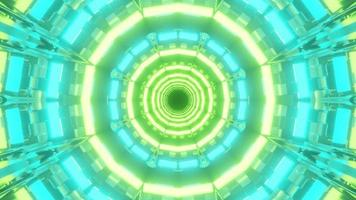 3D Blue and Green Moving Round-Shaped Tunnel video