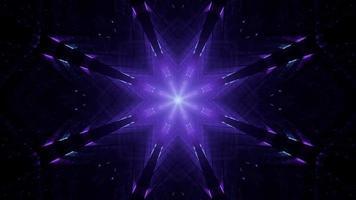 Ornamento azul escuro dinâmico 3D video