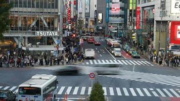 Timelapse crowd people at Shibuya crosswalk in Tokyo,Japan