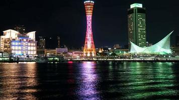 Timelapse tour du port de kobe, hyogo japon video