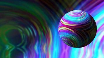 animação em loop de esfera multicolorida colorida de realidade virtual abstrata
