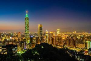 Taipei 101 tower and cityscape of Taipei, Taiwan photo
