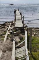 Ver en el antiguo muelle de madera foto